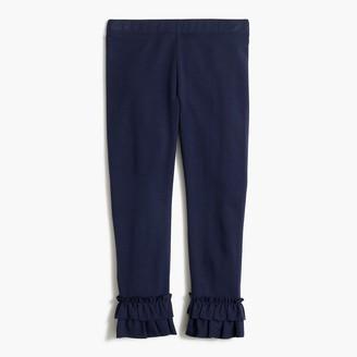 J.Crew Girls' leggings with ruffled hem