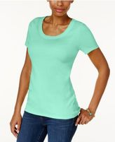 Charter Club Cotton Scoop-Neck T-Shirt, Only at Macy's