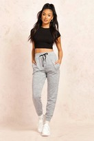 boohoo Mireia Melange Button Front Relaxed Joggers