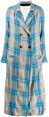 Forte Forte check unlined maxi coat