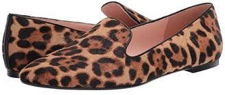 J.Crew Haircalf Smoking Slipper (Rich Mahogany) Women's Flat Shoes