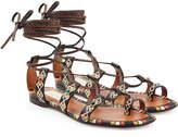Valentino Rolling Rockstud Embellished Leather Sandals