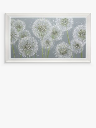Sabrina Roscino - 'Make A Wish' Dandelions Framed Embellished Canvas, 73 x 123cm, Grey