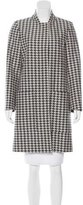 Stella McCartney Knee-Length Houndstooth Coat