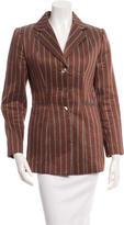 Lela Rose Linen & Silk-Blend Blazer