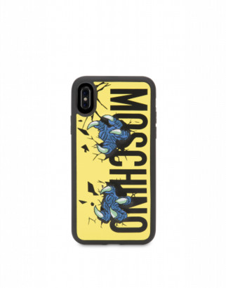 Moschino Monster Hands Iphone X / Xs Cover Woman Yellow Size U It - (one Size Us)