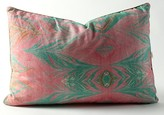 The Well Appointed House Pink and Mint Green Watermark Linen Pillow