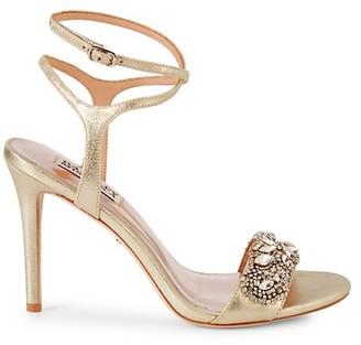 Badgley Mischka Hailey Embellished Strappy Sandals