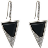 Lana 14k Jet Spike Onyx & Diamond Drop Earrings