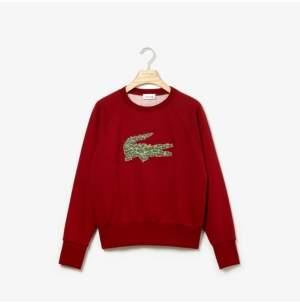 Lacoste Women's Long Sleeve All Over Croc Brush Fleece Sweatshirt