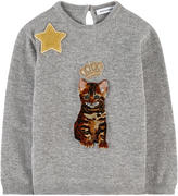 Dolce & Gabbana Mini Me Zambia cat wool sweater