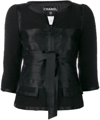 Chanel Pre Owned 2006's Collarless Ribbons Fitted Jacket