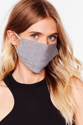 Nasty Gal Womens All Mouth Fashion Face Mask - Black - One Size