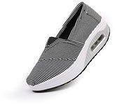 BG US Size 5- Rocker Sole Shoes Women Slip On Sport Casual Running Canvas Shoes stripe shoes
