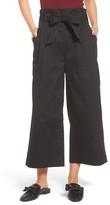 Soprano Women's Paperbag Waist Wide Leg Pants