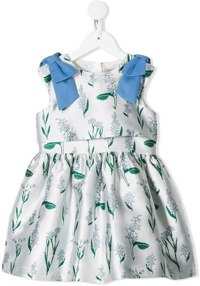 Hucklebones London Ribbon Bodice flower-print dress