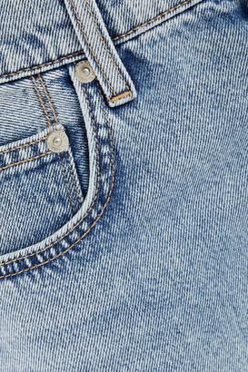 Current/Elliott Cropped High-rise Straight-leg Jeans
