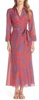 Diane von Furstenberg Women's Long Cover-Up Wrap Dress