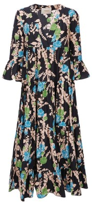 La DoubleJ Jennifer Jane Floral Midi Dress