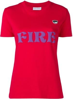 Chiara Ferragni fire print T-shirt