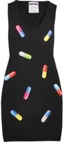 Moschino Printed Wool Mini Dress - Black