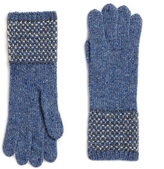 Johnstons of Elgin Denim Cashmere Tweed Stitch Gloves