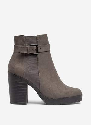 Dorothy Perkins Womens Wide Fit Grey 'Aggy' Ankle Boots, Grey