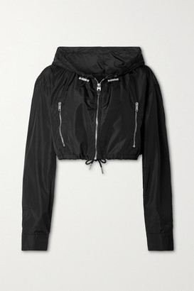 Givenchy - Cropped Hooded Printed Shell Jacket - Black