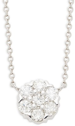 Saks Fifth Avenue 14K White Gold Diamond Pendant Necklace