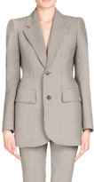 Balenciaga Plaid Stretch-Wool Blazer, Multi