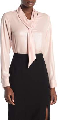 Calvin Klein Long Sleeve Neck Tie Blouse
