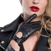 Matsu Gloves MATSU Women Driving Touchscreen Lambskin Leather Gloves M9237