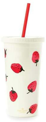 Kate Spade New York TUMBLER WITH STRAW - STRAWBERRIES