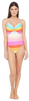 Trina Turk 25th Anniversary - Sunrise Stripe Keyhole Maillot One-Piece Swimsuit (Multi) Women's Swimsuits One Piece