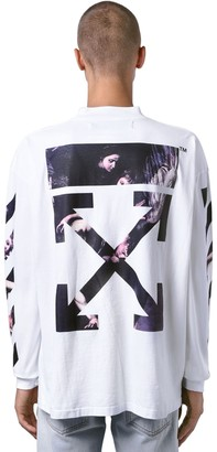 Off-White Off White OVERSIZE CARAVAGGIO LONG SLEEVE T-SHIRT