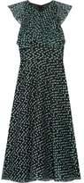 Lela Rose Ruffled Fil Coupé Organza Midi Dress