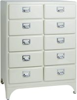 Dulton Filing Cabinets & Storage Dixon Chest of 10 Drawers, Floral White