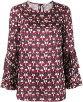 P.A.R.O.S.H. pleated flower top