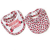 Kate Spade Budding Genius & Floral-Print 2-Piece Bib Set