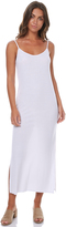 Rusty Blank Rib Midi Womens Dress White