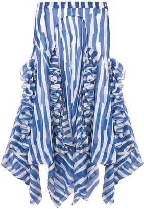 S I O B H A N M O L L O Y Abstract Print Asymmetric Midi-Skirt