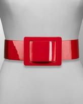 Women's Wide Patent Belt