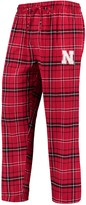 Unbranded Men's Concepts Sport Scarlet/Black Nebraska Cornhuskers College Ultimate Flannel Pants