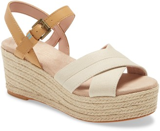 Toms Willow Espadrille Platform Wedge Sandal