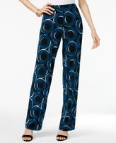 Alfani Petite Printed Palazzo Wide Leg Pants, Created for Macy's