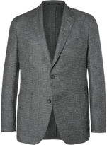 Richard James Grey Spirit Linen and Wool-Blend Hopsack Blazer