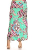 Fashion Stream Womens Plus Size Print, Full Length Skirt MADE IN USA