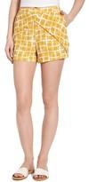 J.o.a. Women's Faux Wrap Print Shorts