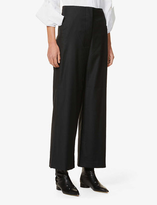 Gabriela Coll G High-rise wide wool trousers