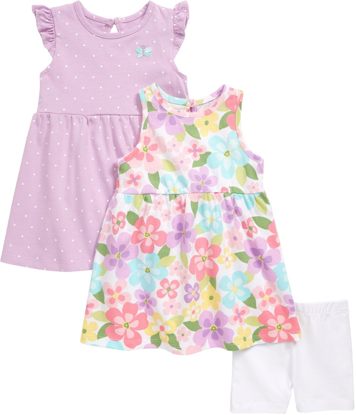 VISGOGO Toddler Baby Girl Bunny Dress Shorts Pants 2Pcs Outfits Clothes Set 0-24 Months